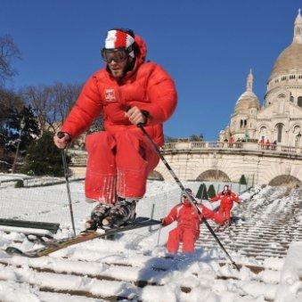 Ski à Montmartre